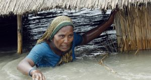 Flooding in Bangladesh. Poorer countries are hardest hit by global warming.