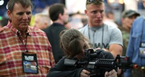 'What is the effect of resisting all gun control?' the pragmatist would ask. Photograph: Justin Sullivan/Getty Images