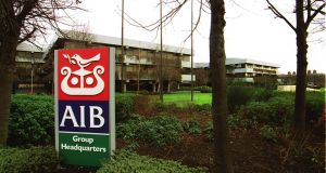 """AIB has consolidated its position in the Irish market and now has number one market share in household mortgages and SME loans."" Photograph: Alan Betson"