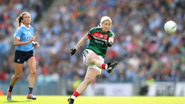 Cora Staunton in action for Mayo during the TG4 Ladies Al-Ireland SFC final at Croke Park. Photo: Ryan Byrne/Inpho