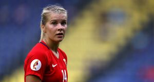 Norway star Ada Hegerberg welcomed the news that the women's team are to receive the same pay as the nation's men's team. Photograph:  Dean Mouhtaropoulos/Getty Images