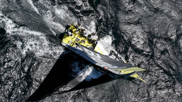 Team Brunel during the Cape Town Practice Race of the Volvo Ocean Race 2014-15. Photograph: Ainhoa Sanchez/Volvo Ocean Race via Getty Images)