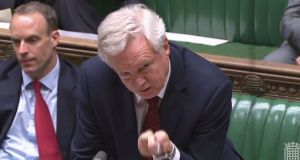Brexit secretary David Davis told MPs this week that he expects EU leaders to agree that the negotiations are close to achieving as much progress as they can before moving on to trade talks. Photograph: AFP/PRU