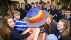 Fifth-year students from Tallaght Community School preparing for their first contact with  the International Space Station. Photograph: Colin O'Riordan/'Irish Independent'