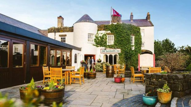 The Bushmills Inn: once a traditional coaching house built from the 1600s, now a four-star boutique hotel and restaurant