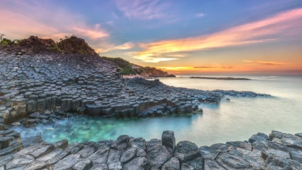 The basalt rocks that form the Giant's Causeway, Northern Ireland's most-visited tourist attraction