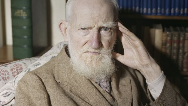 George Bernard Shaw at home in Ayot St Lawrence in 1946. Photograph: James Jarche/Popperfoto/Getty Images