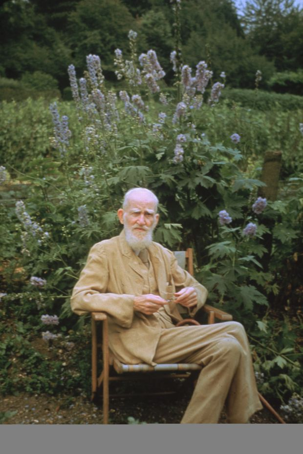 George Bernard Shaw in the garden of his country home in Ayot St Lawrence, Hertfordshire, in 1946. Photograph: Keystone/Getty Images