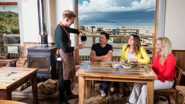 Donal Doherty and chef Derek Creagh chose Portstewart strand as the location for Harry's Shack, the coastal offshoot of Harry's