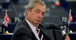 Former leader of UK Independence Party (UKIP) Nigel Farage. Photograph: Vincent Kessler/Reuters