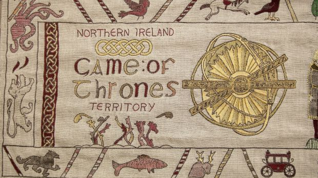 The storyline of 'Game of Thrones' is told in a giant, Bayeux-style tapestry at the Ulster Museum in one of several tourist attractions in the North to have embraced the pulling power of the HBO drama