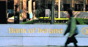 Bank of Ireland, currently the subject of an enforcement investigation by the Central Bank alongside KBC, dropped by 1.93 per cent to €6.649 on Thursday. Photograph: Aidan Crawley/Bloomberg