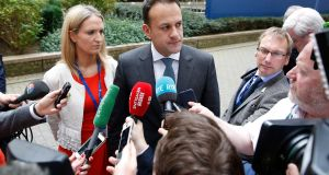 "Leo Varadkar     in Brussels on Thursday: ""The position of Ireland.. is that if we are going to do anything on digital taxation, we should do it on an international basis through the OECD."" Photograph: Julien Warnand/EPA"
