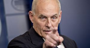White House chief of staff John Kelly said an investigation was under way into the circumstances surrounding the ambush that killed four US troops in Niger earlier this month. Photograph: Andrew Harrer/Bloomberg