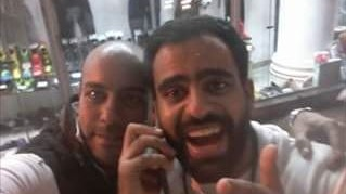Ibrahim Halawa (right) with his cousin Abo Elgood