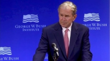 George W Bush: 'We've seen nationalism distorted to nativism'