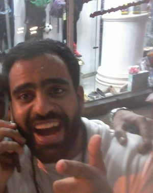 Irishman Ibrahim Halawa after he was released from custody in Cairo last night. Photograph from the Free Ibrahim Halawa facebook page.