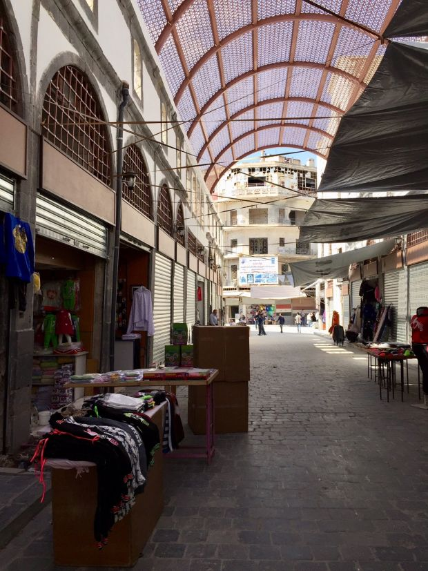 The souq in the Old City of Homs, which is being restored after the bombardment of the city. Photograph: Michael Jansen