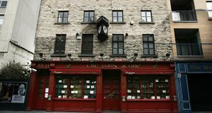 The Long Stone Pub on Townsend Street, in Dublin city centre. Photograph: Dara Mac Dónaill