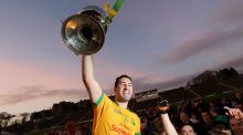 Captain Bryan Sheehan lifts  the cup after South Kerry's victory over Killarney Legion in the  Kerry senior football championship final replay in 2015. Photograph: Donall Farmer/Inpho