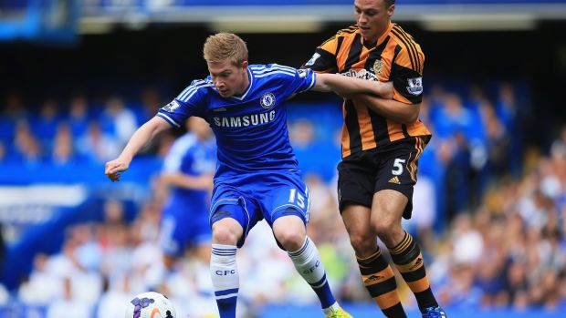 Kevin De Bruyne struggled under Jose Mourinho at Chelsea. Photograph: Richard Heathcote/Getty