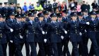 Garda recruits during a  passing out parade at the Garda College in Templemore last April. Photograph: Cyril Byrne