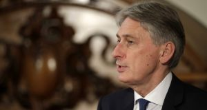 Chancellor Philip Hammond: likely to be restricted from setting aside money to smooth Britain's exit from the EU. Photograph: Matt Dunham/AFP/Getty Images
