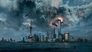 In Geostorm, most of the good, dumb action seems to have taken place before the opening credits roll