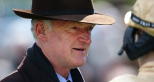Willie Mullins:  has contenders in big races in France and Australia this weekend. Photograph:  Charlie Crowhurst/Getty Images