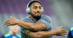 Bundee Aki: will return for Connacht against Worcester at the Sportsground. Photograph: Morgan Treacy/Inpho