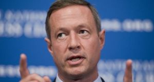 Irish-American Democrat politician Martin O'Malley