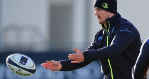 Johnny Sexton returns to the Leinster XV for the trip to play Glasgow Warriors. Photograph: Gary Carr/Inpho