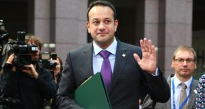 At the EU summit in Brussels, Taoiseach Leo Varadkar was busy collecting the mobile-phone numbers of the other prime ministers. Photograph: Aurore Belot/AFP/Getty Images