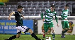 Bray struck late to beat Shamrock Rovers at the Carlisle Grounds. Photograph: Tommy Dickson/Inpho