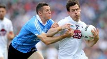 Dublin's Darren Daly tackles Kildare's Emmet Bolton during the Leinster final. Photograph: Oisin Keniry/Inpho