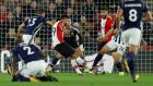 Southampton's Sofiane Boufal scores against West Brom. Photograph: Reuters