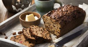 Most families have their own tea brack recipe and you can add a bit of fun with a wrapped up coin and ring.  Photograph: Harry Weir
