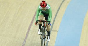 Lydia Boylan (pictured) and Lydia Gurley claimed silver in the Madison at the European track championships in Berlin. Photograph:  Kevin Lee/Getty Images