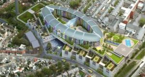 An artist's impression of the proposed new  National Children's Hospital at St James's Hospital, Dublin.