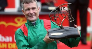 Pat Smullen: will miss Leopardstown's last fixture of the campaign on Saturday due to suspension. Photograph: Inpho