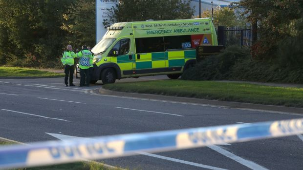 Emergency services near Bermuda Park in Nuneaton where police are dealing with an ongoing incident. Photograph: Aaron Chown/PA Wire