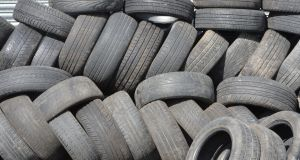 Minister for the Environment Denis Naughten pointed to local authorities' estimates that more than 750,000 tyres had been dumped in sites around the country. Photograph: Alan Betson