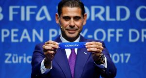 Fernando Hierro: did so fine a job you'd be tempted to offer him a spot in your tent should he be stuck for somewhere to stay in Russia next summer. Photograph: Arnd Wiegmann/Reuters