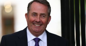 "Britain's secretary of state for international trade Liam Fox: ""How much does the European Commission and the European elite want to punish Britain for having the audacity to use our legal rights to leave the European Union?"" Photograph: EPA"