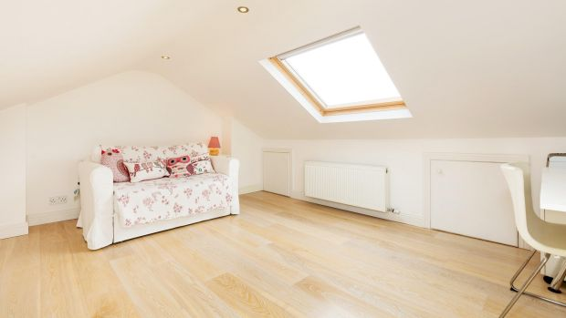 Converted attic at No 56 Hollybank Road.