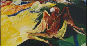 Winged Figure, 1970-1975, oil on canvas,