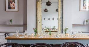 The first floor dining room at Kerala Kitchen on Baggot Street. Photograph: Nathalie Márquez Courtney