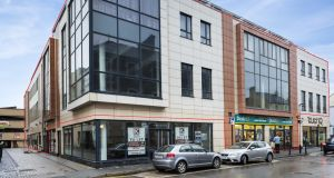 Kelly Walsh is quoting €2.65 million for a modern mixed-use building with retail, offices and apartments extending to more than 3,541sq m (37,152sq ft) at 38-42 Tullow Street, Carlow.