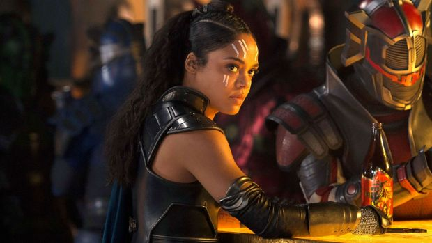 Welcome newcomer Valkyrie is given a boozed-up, kicking-out-time vigour by Tessa Thompson