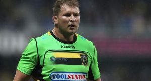 Dylan Hartley was sinbinned during Northampton's Champions Cup defeat to Clermont. Photograph: David Rogers/Getty